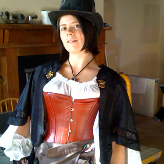 All steampunked-up for choir practice